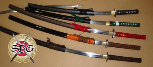 Swords ready on the rack