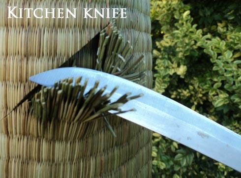 Kitchen Knife vs Tatami