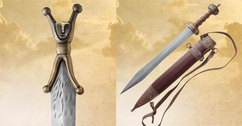 Two of the swords from the Eagle