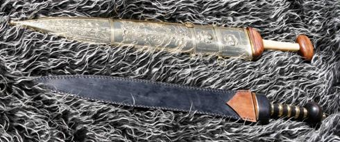 Not historic, but totally functional, replica Roman Swords
