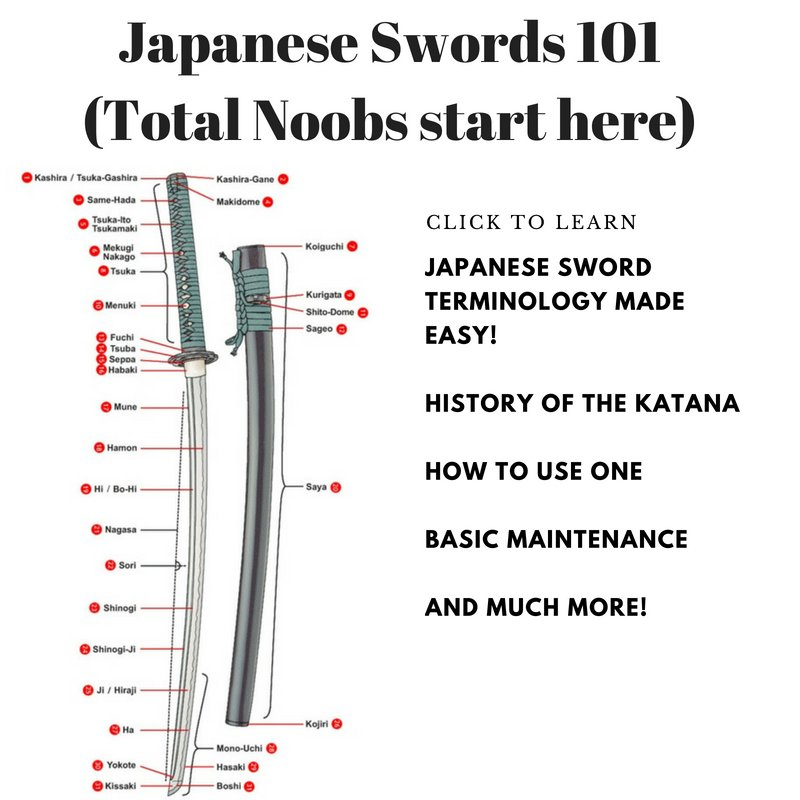 Japanese Sword Terminology Made Easy. History of the Katana. How to Use One. Basic Maintenance. And Much More!