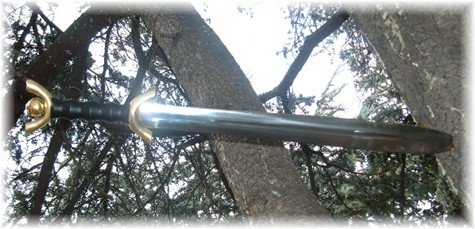 A modern looking Celtic flavored sword with some historical elements, but with a lot of creative license applied